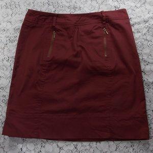 David Brooks Burgandy Mini Skirt Size Zip